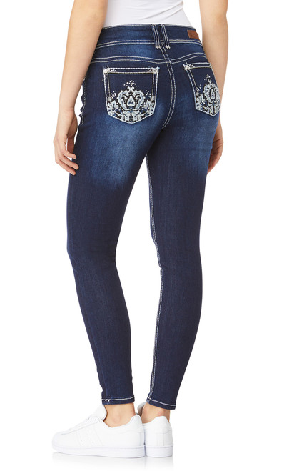 Luscious Curvy Bling Skinny Jeans In Castle