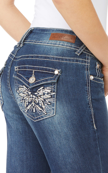 Luscious Curvy Bling Bootcut Jeans In Twinkle