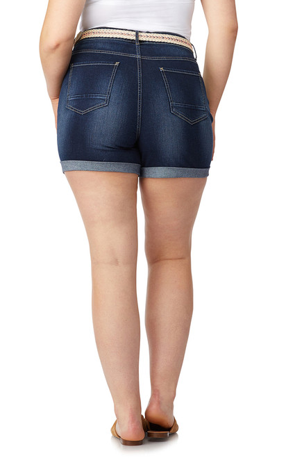 ac812c5c93 Plus Size Belted Legendary High Rise Shorts In Betsy - WallFlower Jeans