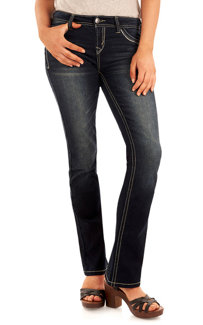 """Classic Legendary Bootcut Jeans (30-32-34"""") In Kaylee"""