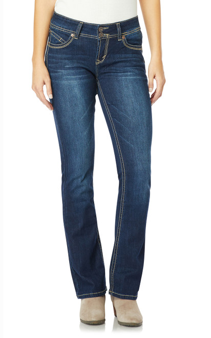 "Luscious Curvy Basic Bootcut Jeans (30-32-34"") In Scarlett"