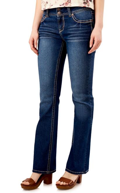 "Luscious Curvy Basic Bootcut Jeans (30""-32""-34"") In Addison"
