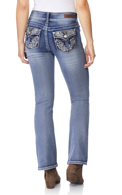 Luscious Curvy Bling Bootcut Jeans In CeCe