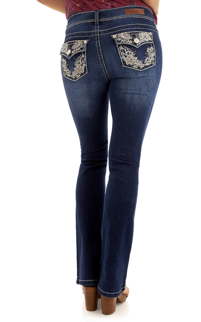 Luscious Curvy Bling Bootcut Jeans In Kris