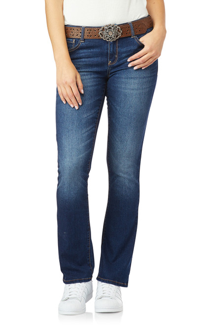Legendary Belted Slim Bootcut Jeans In Penny