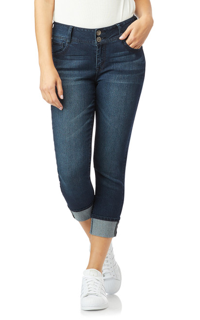 InstaStretch™ Luscious Curvy Cuffed Crop Jeans In Chloe