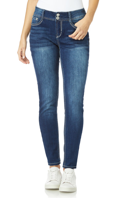 Luscious Curvy Bling Skinny Jeans In Luna