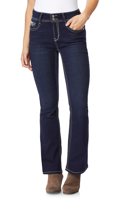 Luscious Curvy Bootcut Jeans In Panther