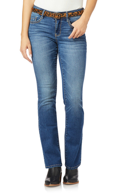 Belted Low-Rise Legendary Slim Bootcut Jeans In Ezra