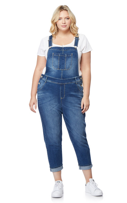 Plus Size InstaStretch Denim Overalls In Anebelle