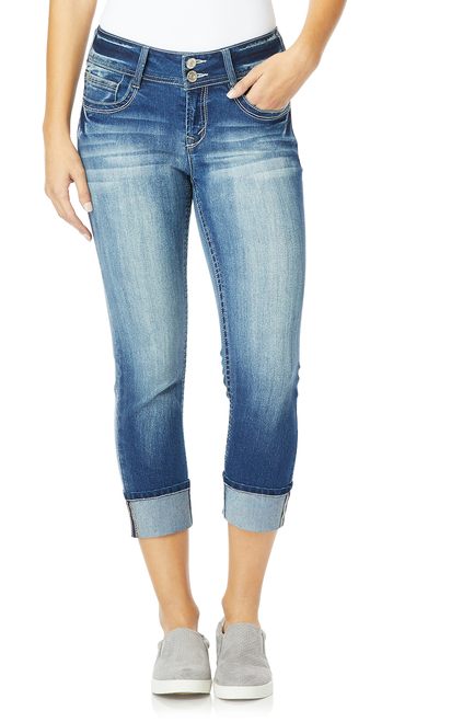 InstaStretch™ Luscious Curvy Cuffed Crop Jeans In Jenna