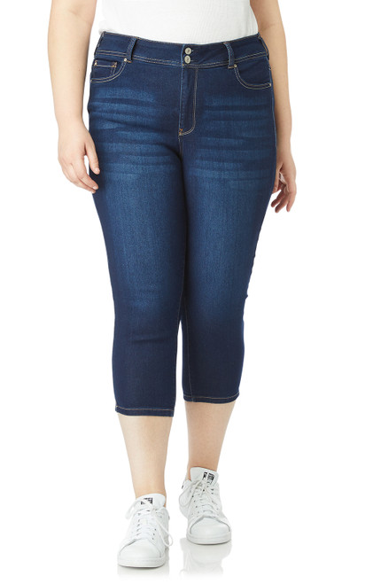 Plus-Size InstaSoft Ultra Fit Skinny Crop Jeans In Riverton