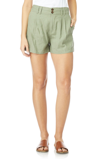InstaChill™ Linen High Rise Shorts In Sage