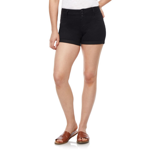 Plus Size InstaSoft™ High Rise Sassy Shorts In Black