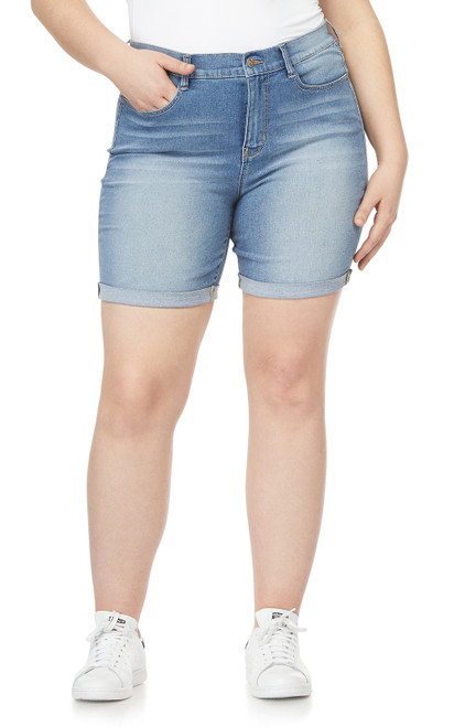 Plus Size Irresistible High Rise Midi Shorts In Cameron