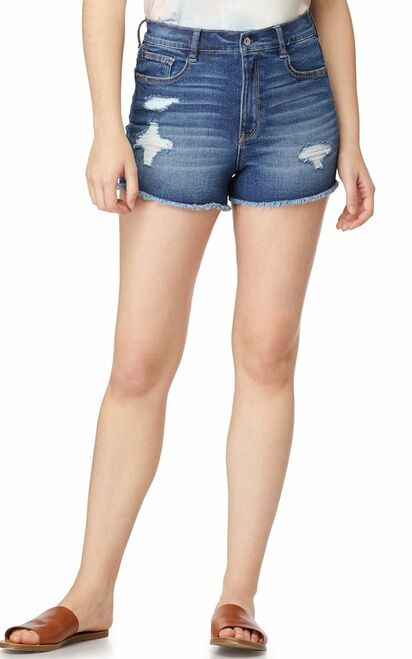Destructed InstaVintage™ Mom Shorts In Ezra