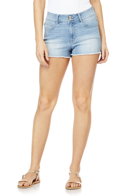 Juniors and Plus Size Flirty Curvy High Rise Shorts In Union