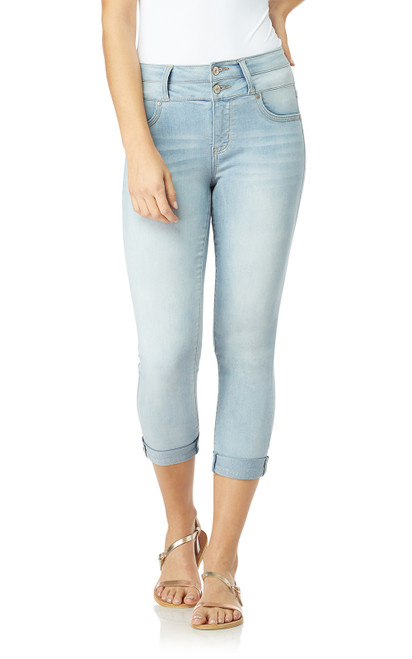 Sassy High Waisted Skinny Crop Jeans In Beverly