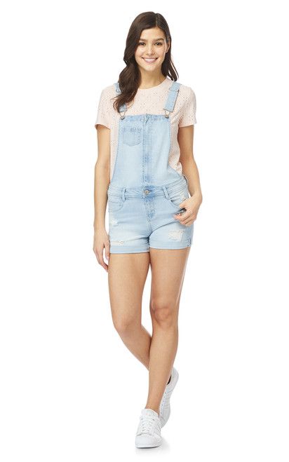 InstaSoft™ Denim Shortalls In Reya