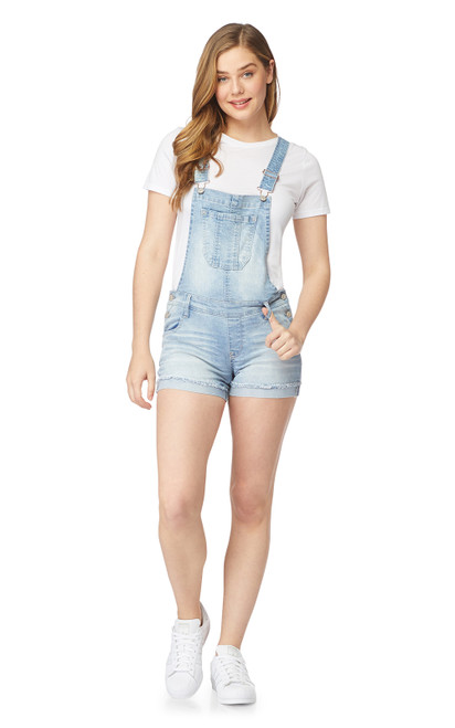 InstaStretch™ Denim Shortalls In Charlotte