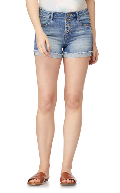 Plus Size Sky High Rise InstaVintage™ Shorty Shorts In Lavender