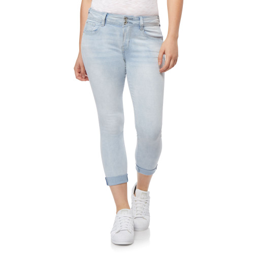 Plus Size InstaSoft™ Ultra Fit Skinny Crop Jeans In Reya