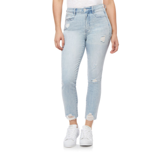 High-Rise Mom Ankle Skinny Jeans In Acaia