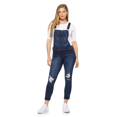 InstaStretch™ Denim Overalls In Clarke Wash