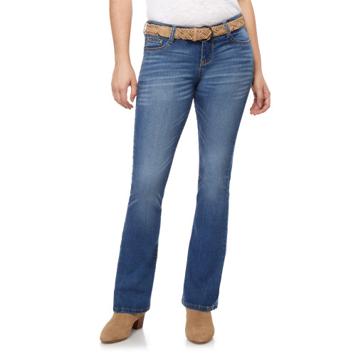 Belted Low-Rise Legendary Slim Bootcut Jeans In Trixie Wash