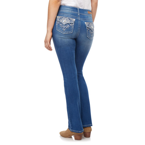 Luscious Curvy Bling Bootcut Jeans In Mirabelle