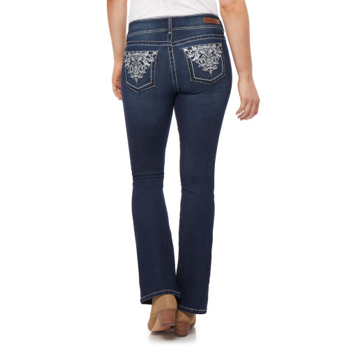 Luscious Curvy Bling Bootcut Jeans In Shawna