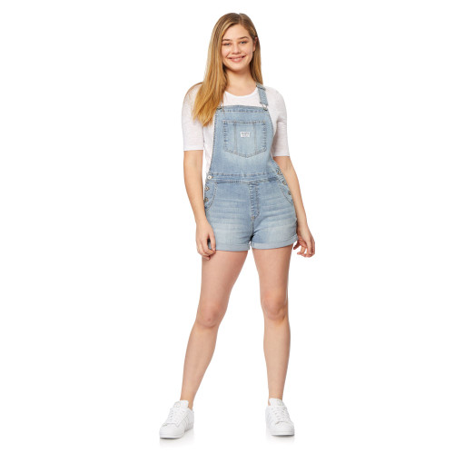 InstaVintage™ Loose Fit Denim Shortalls In Albury