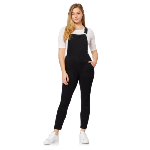 High-Rise InstaVintage™ Ankle Overalls In Black Rinse
