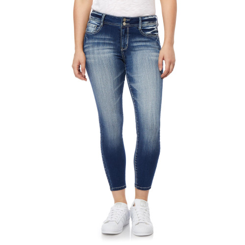 Flirty Curvy High Rise Ankle Jeans In Jenna