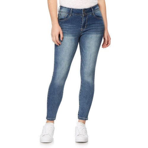 Flirty Curvy High Rise Ankle Jeans In Cosmic