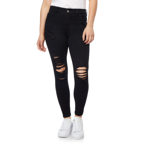 Plus Size High Rise Fearless Curvy Ankle Jeans In Coal