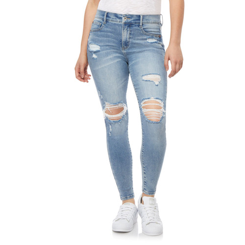 Plus Size High Rise Fearless Curvy Ankle Jeans In Alpine