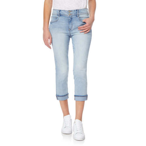 Plus and Juniors Flirty Curvy High Rise Cropped Jeans In Keira