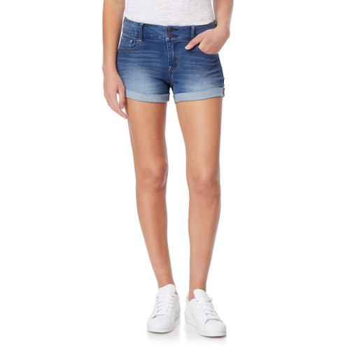 Plus InstaSoft™ Ultra Fit Mid Rise Shorts In Holly