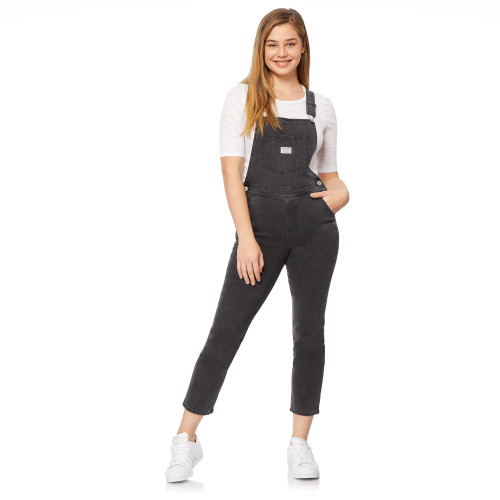 Plus High-Rise InstaVintage™ Loose Fit Overalls In Carbon