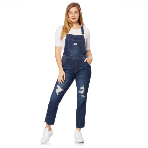 Plus High-Rise InstaVintage™ Loose Fit Overalls In Clarke Wash
