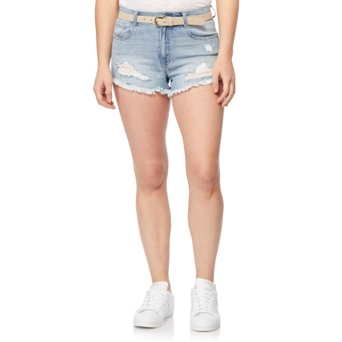 Fearless High Rise Belted Shorts In Union