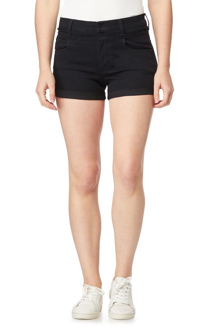 InstaSoft™ High Rise Sassy Shorts In Black Rinse
