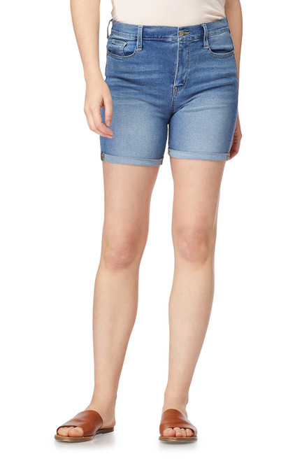 Irresistible High Rise Midi Shorts In Cameron