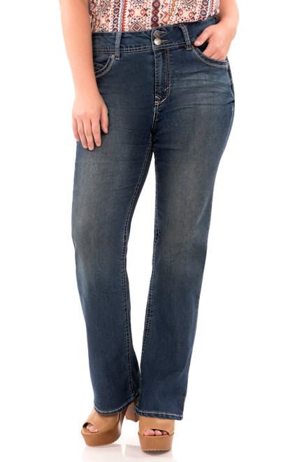 "Plus Luscious Curvy Basic Bootcut Jeans (30-32-34"") In Katy"
