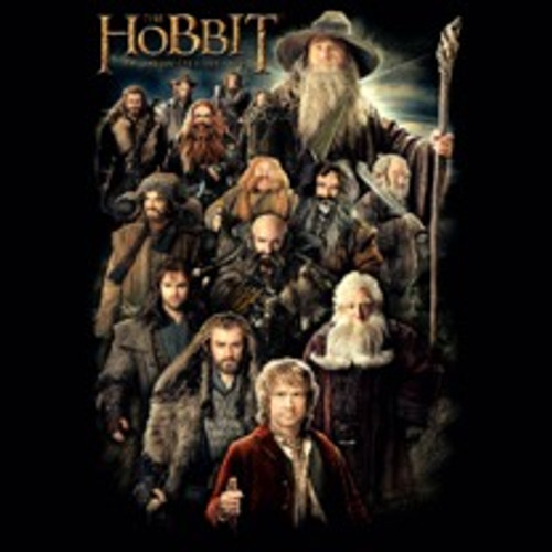 Full Company of Dwarves, A Hobbit and A Wizard in Color
