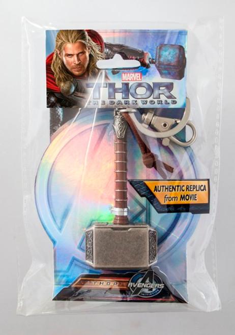 "Thor Hammer (Mjolnir) ""Leather""/Pewter Keyring"