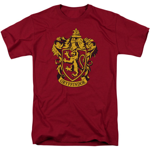 Crest: Gryffindor Gold on Red