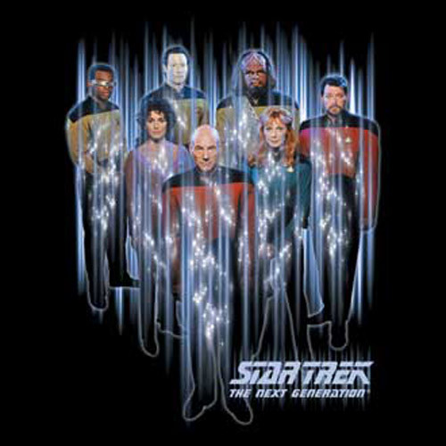 STTNG Cast Beaming