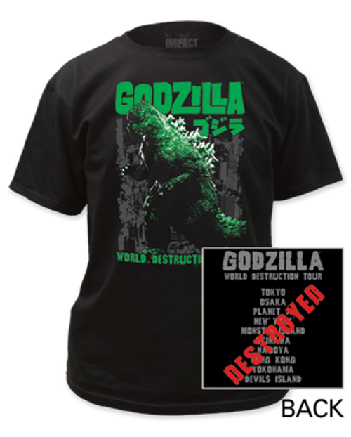 Godzilla World Destruction Tour T-Shirt